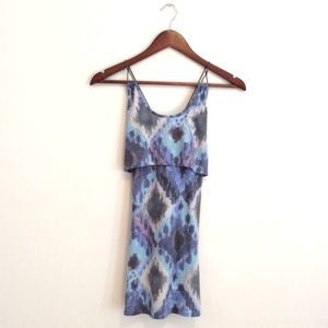 For Love and Lemons Blue Strappy Layered Tank